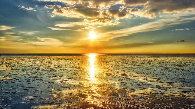 Reflektionen im Watt / Reflections in the Wadden Sea