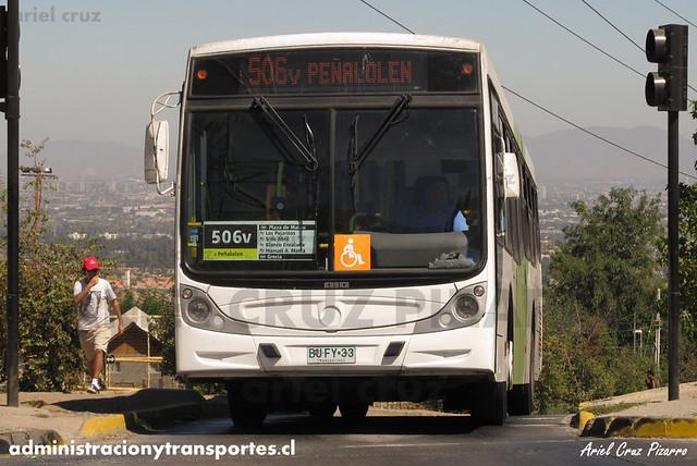 Transantiago (506v) - Metbus - Caio Mondego H / Mercedes Benz (BJFY33)