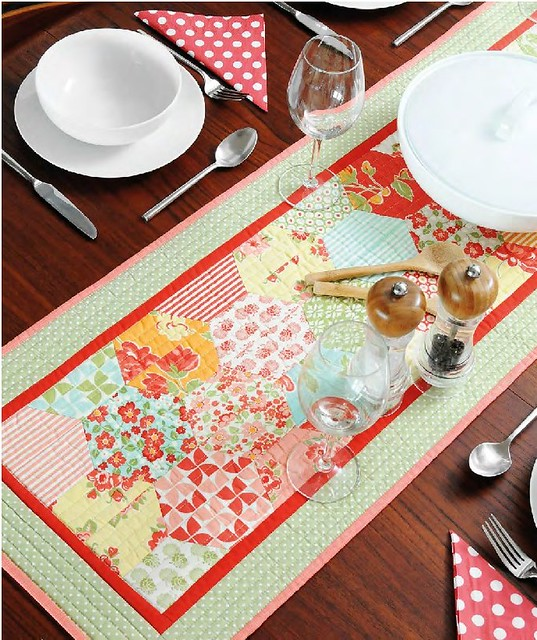Half Hexie Table Runner - Sewing World (April16)