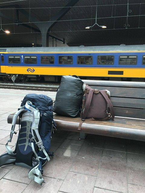 All the luggage I brought for three months in Europe