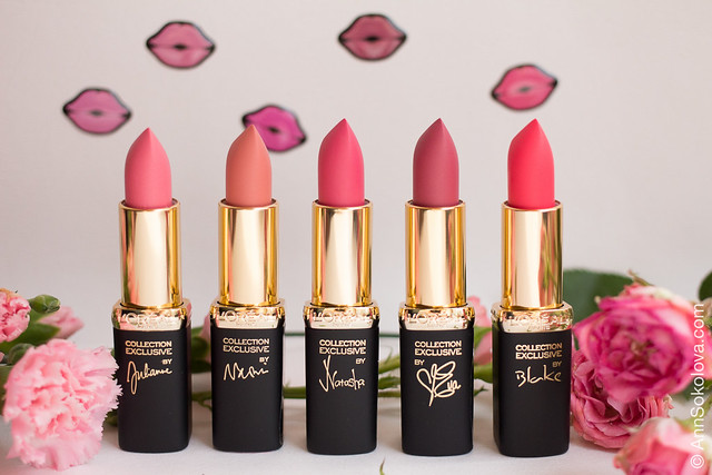 04 L'Oreal Exclusive Collection By Color Riche Lipstick Розовая симфония La Vie En Rose swatches