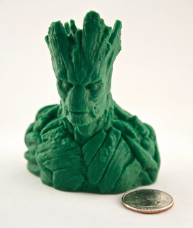He is Groot! with quarter for scale