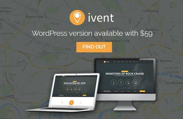 iVent Multipurpose Event WordPress Theme