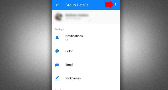 Leave Fb group Chat - Messenger 2