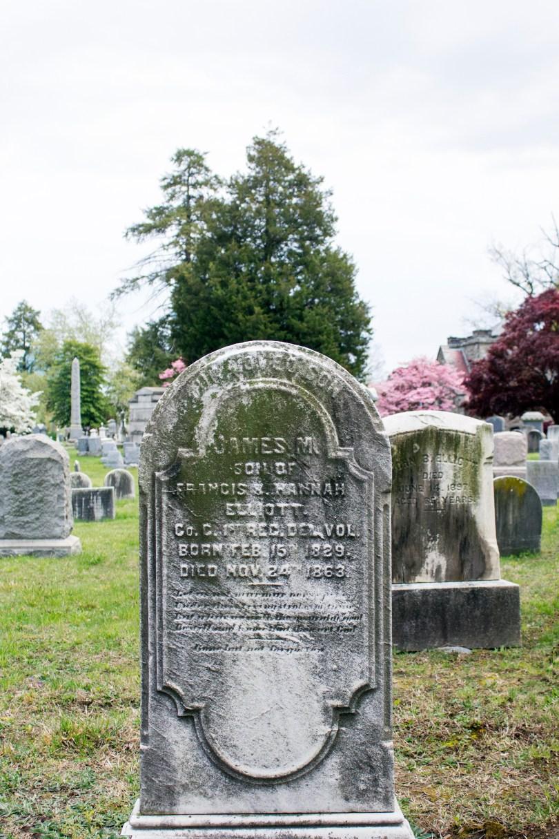 wilmington-brandywine-historical-cemetary-civil-war-soldier-headstone