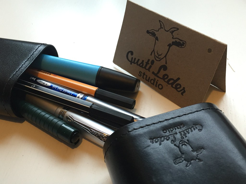 Vintage Leather Pen Case II (Gusti Leather)
