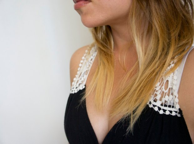 Asian Black Blonde Ombre Hair