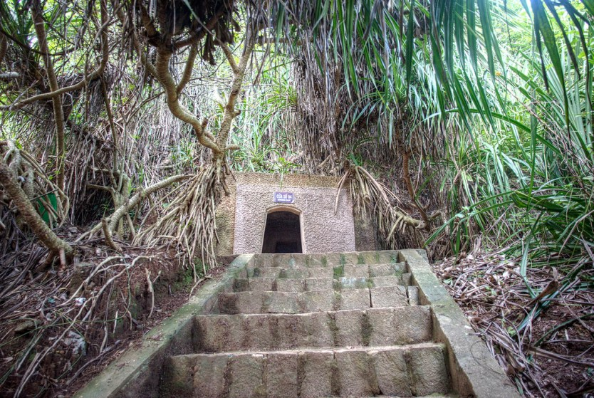 One of the entrances to the Vinh Moc Tunnels.