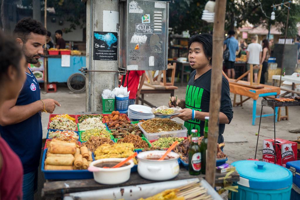 Gili Trawangan food market