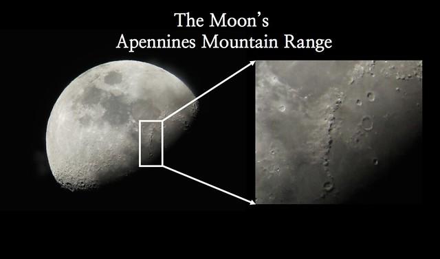 The Moon's Apennines Range