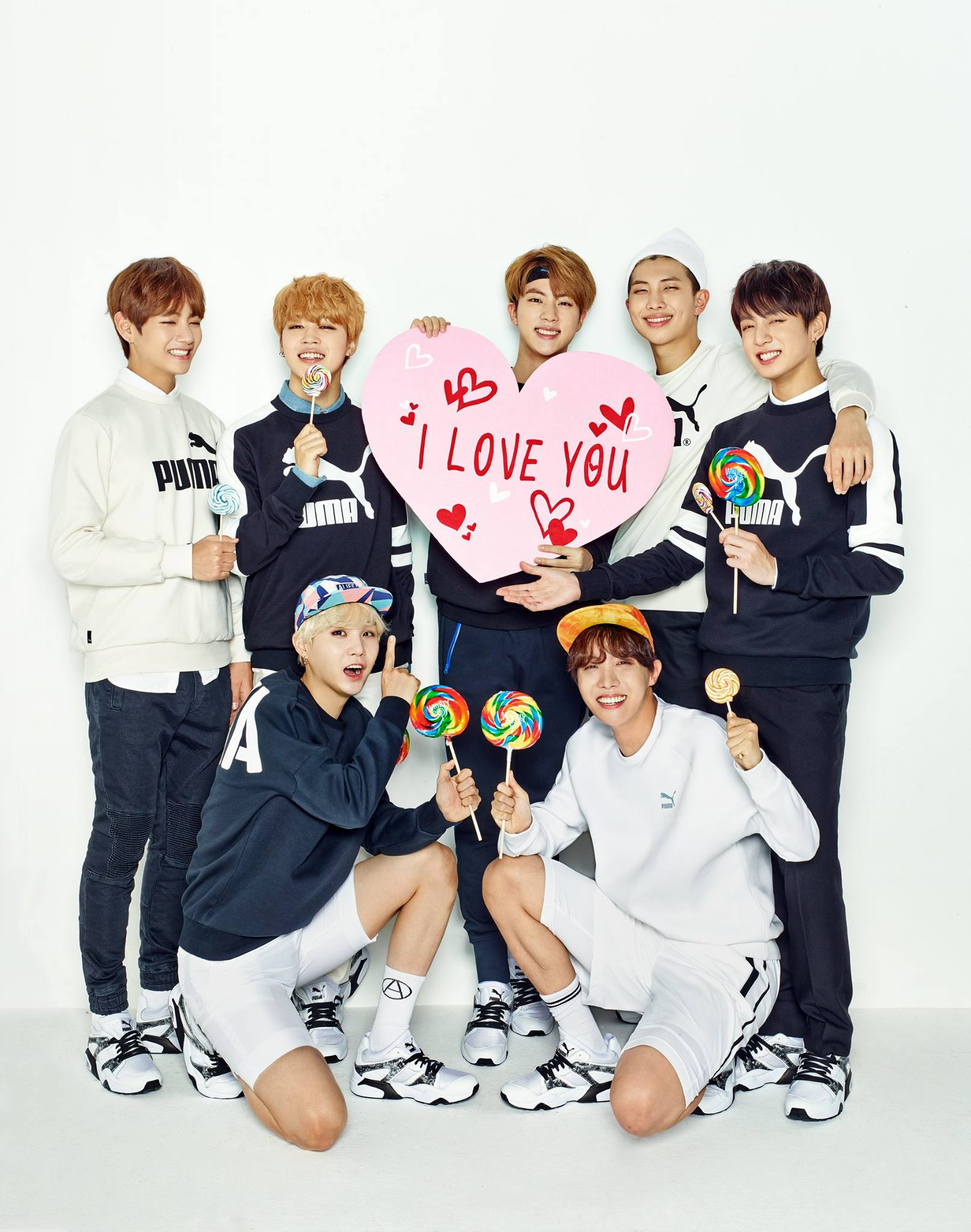 Picture BTS X PUMA Happy Valentines Day BLAZETIME