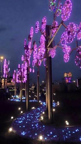 元智大學學生創作桃花林花燈 (1)
