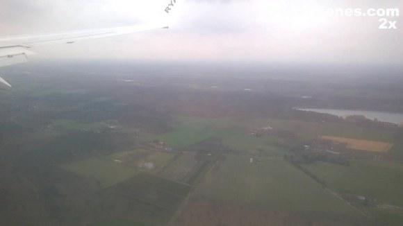 Aterrizando en el aeropuerto de Eindhoven