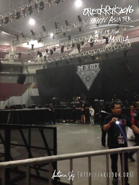 Stage setup for ONE OK ROCK Live in Manila