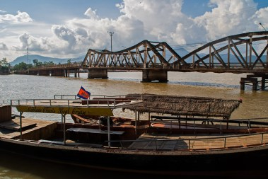Kampot Brücke über den Mekong