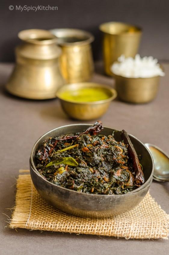 Thotakura Fry, Sauteed Amaranthus Leaves,