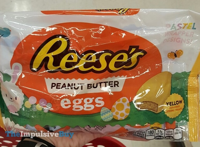 Reese's Peanut Butter Eggs in Pastel Wrapper Designs