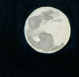 Simple Drawings Moon 1