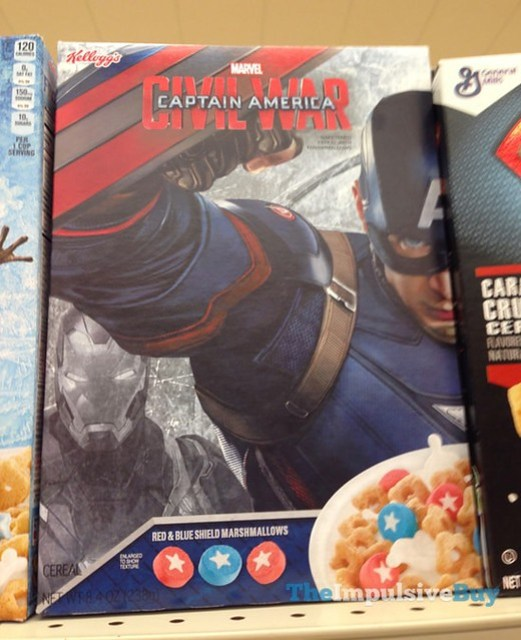 Kellogg's Marvel Captain America Civil War Cereal
