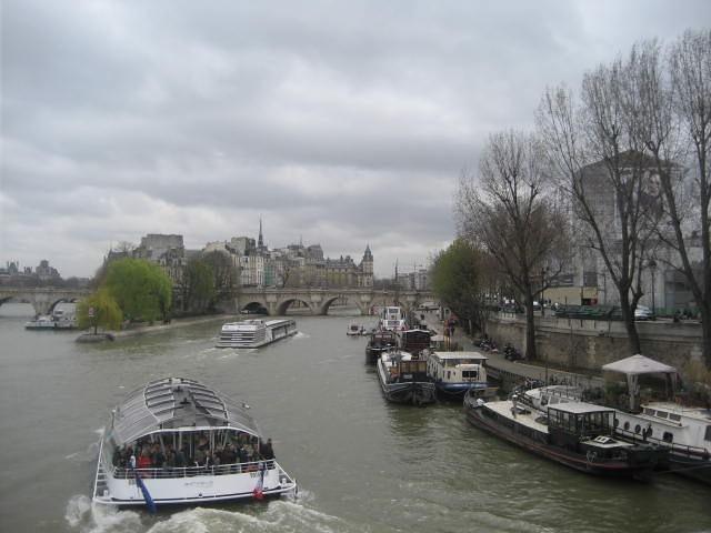 View towards Ile de la cite, Paris