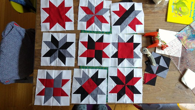 Some blocks for my MIL's lap quilt