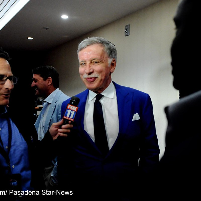 Los Angeles Rams owner Stan Kroenke smiles after a press conference talking about number one draft pick Jared Goff at the Courtyard by Marriott on Thursday, April 28, 2016 in Los Angeles.  (Photo by Keith Birmingham Pasadena Star-News) @nfl @larams #photo