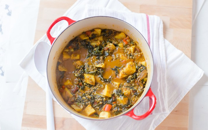 Sweet Potato, Lentil, Mushroom and Kale