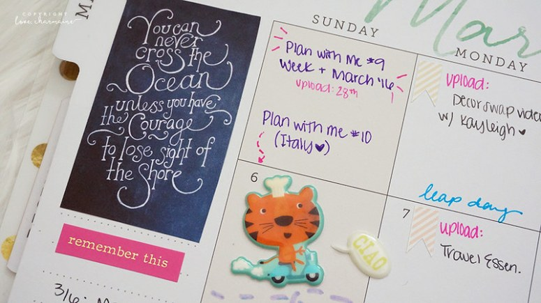 PWM March '16 + Week 9 | LoveCharmaine.com