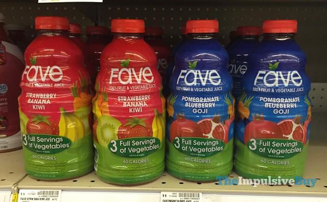 Fave Strawberry Banana Kiwi and Pomegranate Blueberry Goji Fruit & Vegetable Juice