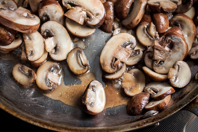 What most recipes don't tell you about how to saute mushrooms: getting that perfect golden sear without tons of unwanted mushroom