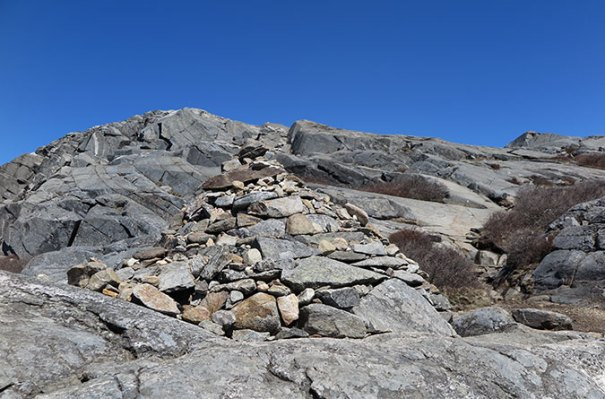 White Dot Trail Summit Approach Cairn
