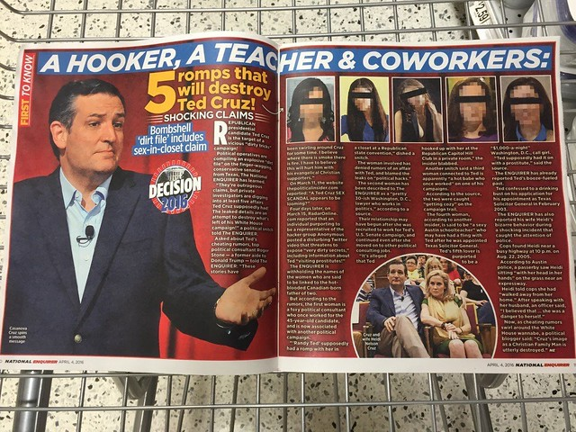 Ted Cruz - National Enquirer