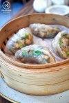 Steamed shiitake mushroom dumplings, $12: Lotus, Sydney. Sydney Food Blog Review