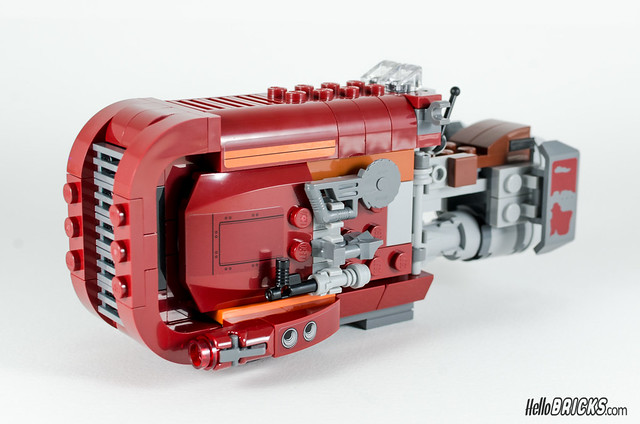 REVIEW LEGO Star Wars 75099 Rey's Speeder 13 - HelloBricks