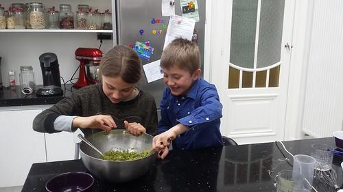 Greenies en brownies maken