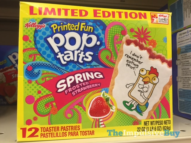 Limited Edition Spring Frosted Strawberry Printed Fun Pop-Tarts