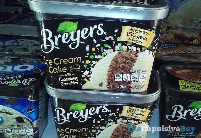 Breyers Ice Cream Cake with Chocolatey Crunchies Ice Cream