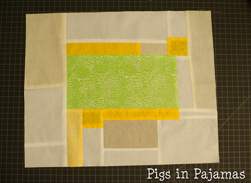 Improv quilting sewn and trimmed