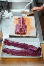 Roe deer venison: the filets