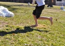 Boys Going Barefoot