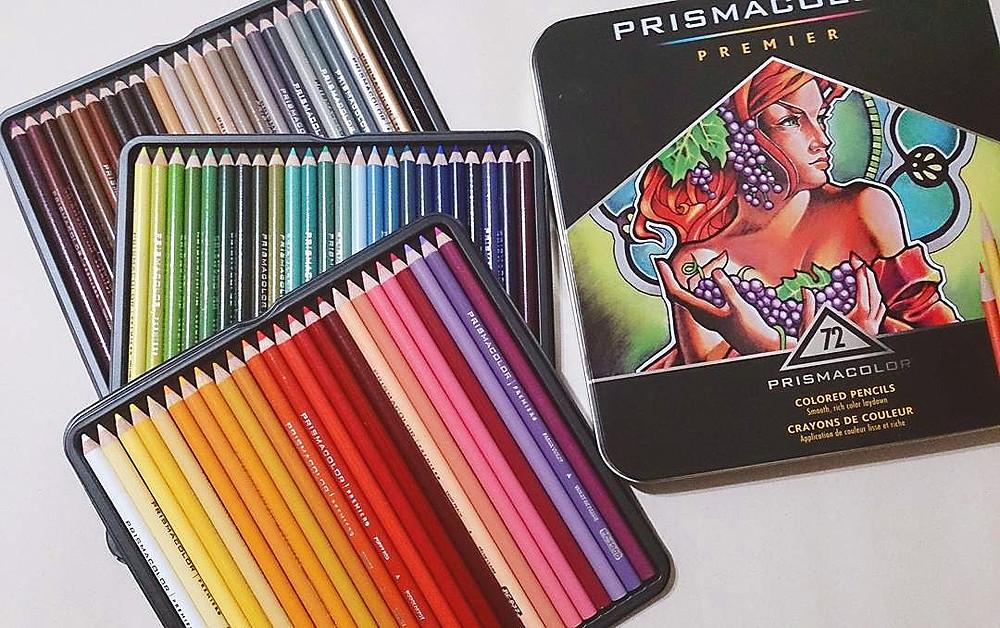 廢柴人間: 【文具開箱】PRISMACOLOR PREMIER 72色 油性色鉛筆