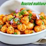 Roasted phool makhana chaat recipe