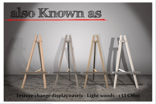 also Known as - Texture change easels - Light Woods
