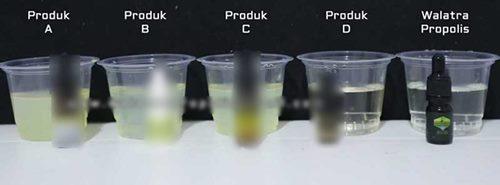 percobaan untuk membuktikan propolis mengandung beeswax atau tidak