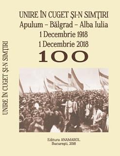 Antologie istorica_coperta_Unire in cuget si-n simtiri-Anamarol 2018