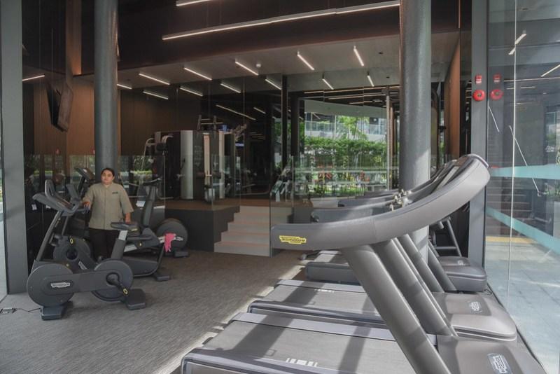 the gym - intercontinental singapore robertson quay