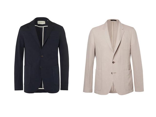 Dos blazer para hombre una azul marina y la otra beige para los looks smart-casual