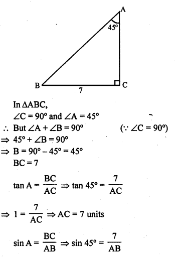 Solution Of RD Sharma Class 10 Chapter 5 Trigonometric Ratios