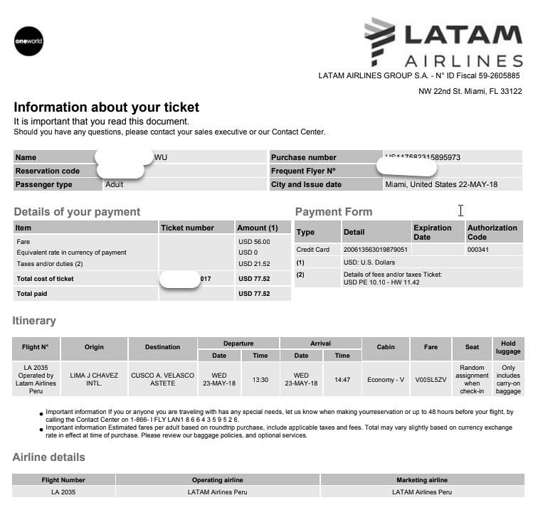 2018/5/15~6/10美國+南美祕魯智利27天花費全紀錄: 機票價格大解析 – amarylliss。艾瑪[隨處走走]
