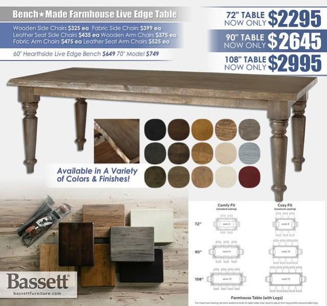 Benchmade Live Edge Farm Table_4015